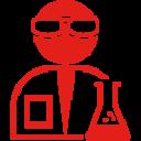 científico con gafas y químico